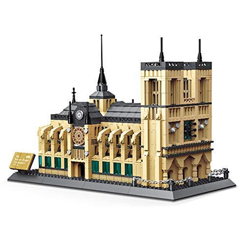 BENPAO Architektur-Paris-Bausatz, weltberühmte Architektur-Notre Dame 3D-Modellbausteine   stellten Kinderausbildungs-Montage EIN Damen-montage