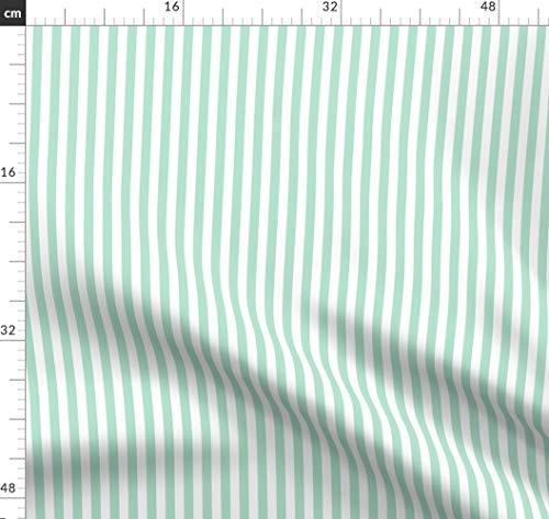Streifen, Gestreift, Vertikal, Misstiina, Mint, Grün, Minzgrün Stoffe - Individuell Bedruckt von Spoonflower - Design von Misstiina Gedruckt auf Bio Musselin -