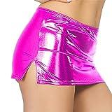 Frauen Sexy Leder Unterwäsche Dessous Lackleder Nacht Rock Sexy