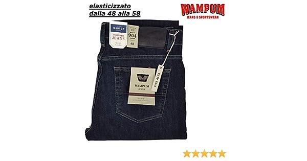 Wampum Jeans Uomo invernale 5T classico invernale scuro pantalone alta qualità