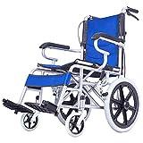 Leggero Di Trasporto In Acciaio Carrozzina Pieghevole Leggero Anziani Disabili Mano Spingere Solid Scooter Pneumatico Anziani Multi-Funzione Ultra Light Portable Travel