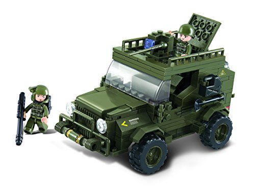 Sluban SlubanM38-B0297 Armoured Car Building Bricks Set