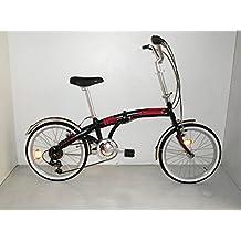 """Bicicletta Car-Flexy unisex e pieghevole 20"""" Cicli Cinzia (Nero opaco)"""