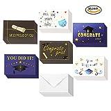 Konsait Grußkarten set für Abschluss und Prüfung (36Pack), Glückwunschkarten blanko und Umschlägen für Geschenk Glückwunsch und Einladung zum Universität bestanden Prüfung Abitur Diplom Doktor