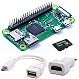 Raspberry Pi Zero W Easy All Rounder Kit (stif Barre déjà eingelötet, avec 16Go Micro SD, Micro USB OTG Adaptateur, convertisseur Mini HDMI Adaptateur)