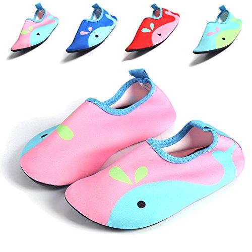 J&T Kinder Jungen Mädchen Aquaschuhe Barfuß Schuhe Schwimmschuhe Wattschuhe Surf Badeschuhe Wasserschuhe Surfschuhe Strandschuhe Sportschuhe Kleinkind