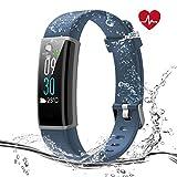 Syncwire Fitness Armband mit Pulsmesser, Farbbildschirm Fitness Tracker HR, Aktivitätstracker Uhr mit IP68 Wasserdicht, 14 Trainingsmodi, Schlafmonitor, Kalorienzähler, Schrittzähleruhr für Kinder Frauen und Männer, Android und iOS