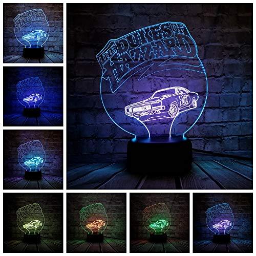 kes Of Hazzard Nachtlicht Multicolor LED Rgb Beleuchtung Luminaria Tisch Kinder Weihnachtsgeschenk Home Deacorative ()