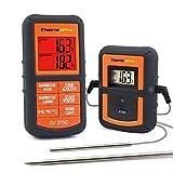 ThermoPro TP08 Termometro da Cucina Digitale con Cottura Senza fili a Doppia Donda per Grigliare Barbecue Carne Forno BBQ Termometro per Alimenti - Monitora la temperatura a Partire da 300 Piedi di Distanza