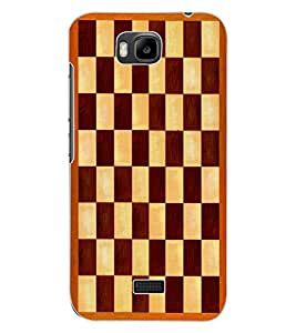 ColourCraft Chess Board Design Back Case Cover for HUAWEI HONOR BEE