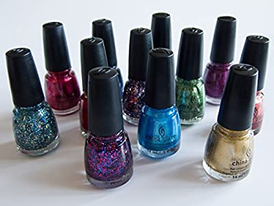 China Glaze Nail Varnish Assorted Colours - Set of Five