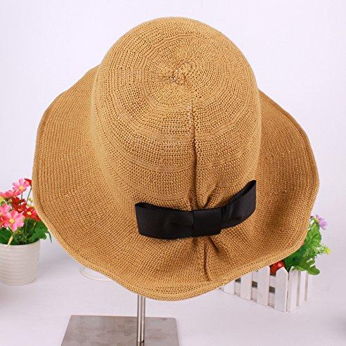 vaevanhome Frühling Und Sommer Töpfe Kappe Weiblichen Süßen Bogen Pilz Ohr Silhouette Sonnenuntergang Hut Outdoor Fischer Hut, B