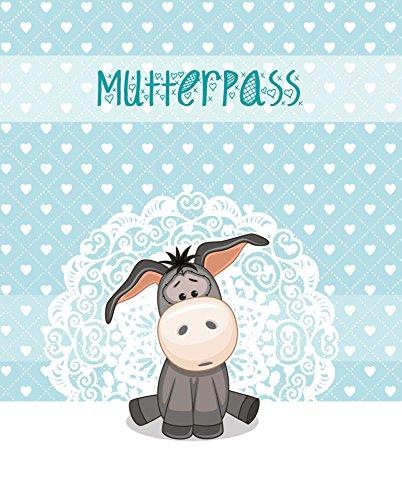 Minerva Luise Papier Kunststoff Mutterpass Schutzhülle mit niedlichen Esel