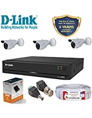 D-Link 4 Channel CCTV KIT 1MP 3PCS Bullet with All Accessor