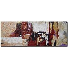 Cuadro en lienzo Pintura abstracta moderna con textura - arte decoración pintado a mano con pinturas acrílicas