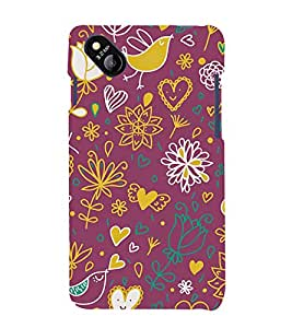 Love Bird 3D Hard Polycarbonate Designer Back Case Cover for Micromax Bolt D303