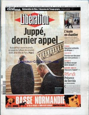 LIBERATION [No 7285] du 13/10/2004 - CINEMA - REST...