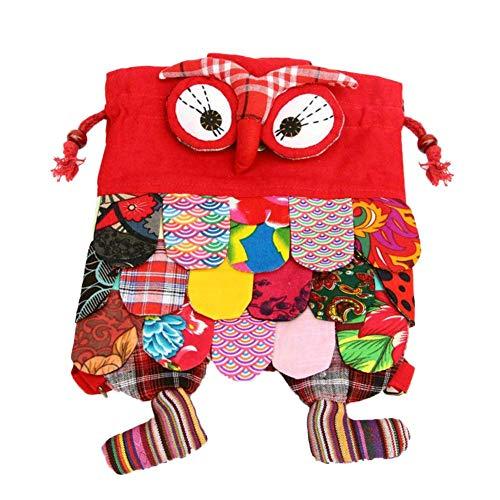 Eulen Rucksack Kinder, niedlichen Design wenig Kordelzug Tasche handliche Schule für Kinder Geschenk für Kinder Jungen Mädchen Kleinkind