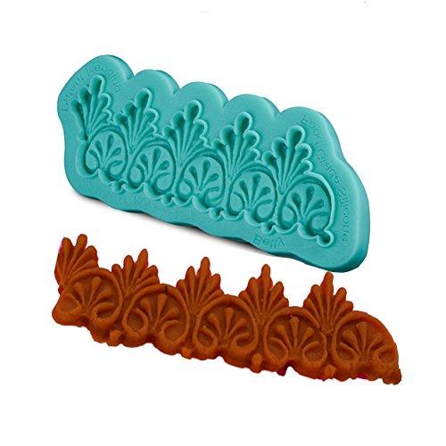 Yaxitu Blume Spitze Form Silikon Fondant Kuchen Dekorieren Werkzeuge Schokolade Backen Mold (Essbare Spitze Silikon Form)