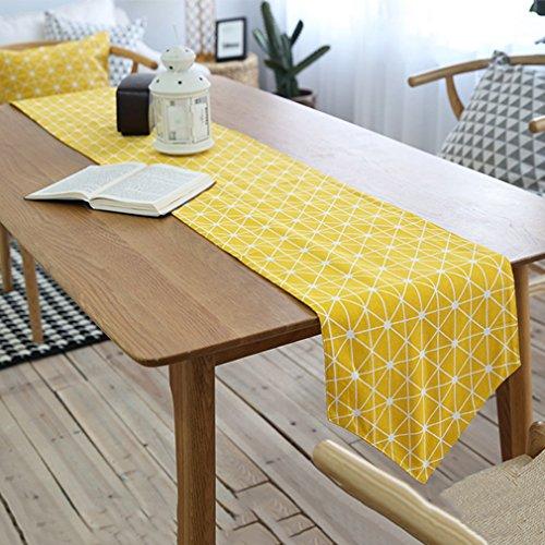 Seide Tartan-rock (Tischläufer Europäische Tischläufer Stil Dicke gelbe Tischläufer Baumwolle Leinen Tartan Tischläufer Sackleinen lange Esstisch Leinen Dekor Haus Dekoration ( Size : 30*220cm ))