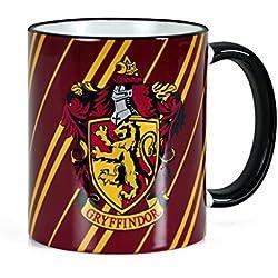 Harry Potter - taza de la casa Gryffindor de Hogwarts - escudo del león - con la licencia oficial - para apasionados del colegio Hogwarts - 300 ml de capacidad