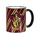 Elbenwald Harry Potter - Taza de la casa Gryffindor de Hogwarts - Escudo del león - con la Licencia Oficial - para apasionados del Colegio Hogwarts - 300 ml de