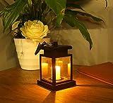 Loveusexy Bright Outdoor Vintage Hängende LED Solar Laterne Kerze Lampe Scheinwerfer für Garten, Balkon, Auffahrt, Pathway, Yard, Rasen, Umbrella Landschaft (Packung mit 1)