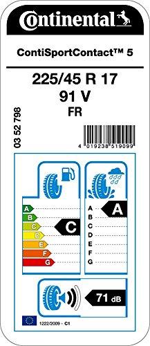 Continental-ContiSportContact-5-22545R17-91V-CA71-Pneumatico-Estivos