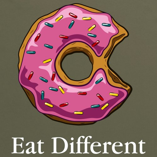 Eat Different T-Shirt, Herren Olivgrn