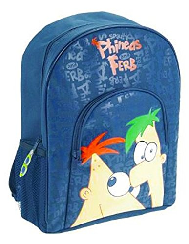 Disney Phineas and Ferb Large Backback / School Bag / Blue