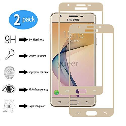 yueer [2 Stücke Panzerglas Schutzfolie für Samsung Galaxy On5 2016/G5700,[Anti- Kratzer] [Ultra Clear] Panzerglasfolie Bildschirmschutzfolie Folie für Samsung Galaxy On5 2016/G5700-Gold