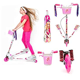 Viper Kids 3 Wheel Swing Tri Slider Motion Winged Push Girls Scooter Children Pink