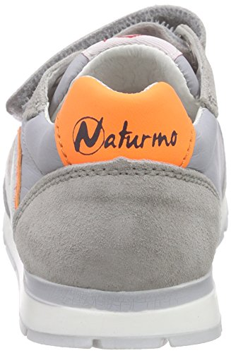 Naturino NATURINO BOMBA VL, Sneakers basses garçon Grau (VELOUR/RETE/NYLON. GRIGIO-ARANCIO FLUÒ)