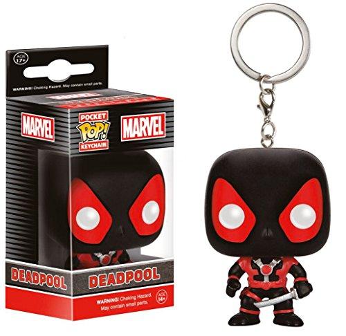 Marvel Comics - Vinyl Schlüsselanhänger - Black Deadpool (Spielzeug Marvels Deadpool Lego)