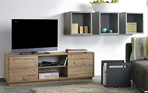 sideboard fichte tv sideboard tv schrank hifi schrank echtholz optik smash. Black Bedroom Furniture Sets. Home Design Ideas