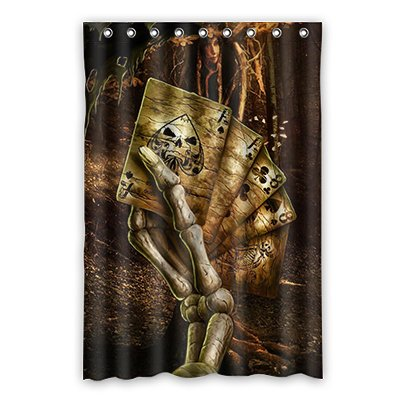 Dalliy Brauch ace poker Wasserdicht Polyester Shower Curtain Duschvorhang 120cm x 183cm (Poker Duschvorhang)