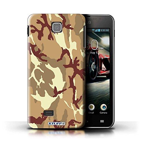 Kobalt® Imprimé Etui / Coque pour LG Optimus F5/P875 / Marron 1 conception / Série Armée/Camouflage Marron 4