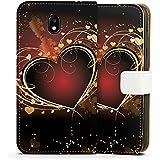 Samsung Galaxy J5 2017 Tasche Hülle Flip Case Verliebt Herz Heart