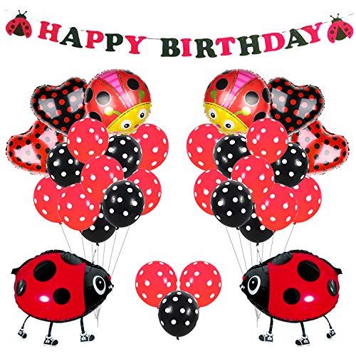 r Partydekorationen liefert Marienkäfer Ballons für Mädchen Geburtstagsparty Baby Shower ()