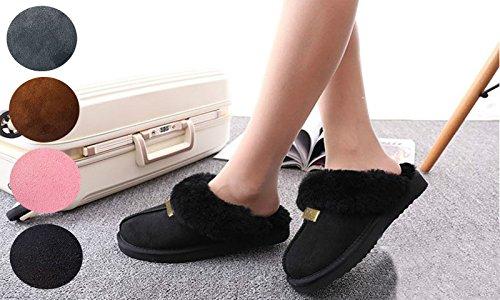 Geniune GCG Ladies Faux Sheepskin Slippers Mules Non Slip Hard Sole Womens GREY 5