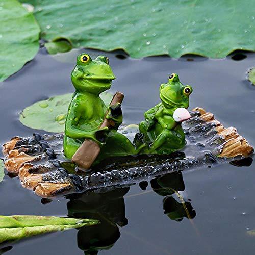 schwimmende Teich Deko Seerose mit Schildkröte Krokodil Frosch Garten Dekoration