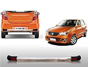 Auto Pearl - Premium Quality Car Sleek Rear Stainless Steel Oval Crash Guard With Fitting Kit For - Maruti Suzuki Alto K10