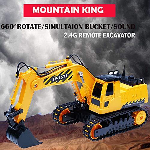 RC Baufahrzeug kaufen Baufahrzeug Bild 1: HKFV RC Bulldozer, Model Free Wheeler Die Cast BAU Spielzeug RC Car 1:24 Scale Fernbagger-BAU-LKW-Spielzeug*
