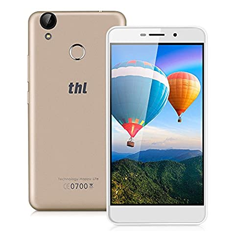 """THL T9 PRO Unlocked 4G Smartphone, 5.5"""" HD Android 6.0 MT6737 Quad cores 1.3GHz 2GB RAM+16GB ROM Dual SIM Mobile Phone with Dual Camera (5MP/ 2.0MP) 1280*720 Pixels Fingerprint GPS Wifi Bluetooth SIM-free Cell Phone -"""