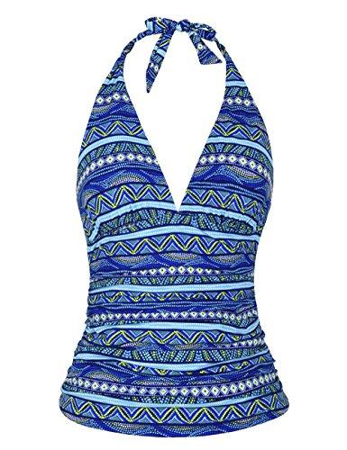 Hilor Damen Tankini Gr. 42, Blue Stripes