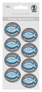 Ursus 564000351F creativos Accesorios Religión, Invitación para comunión, 8Unidades, Color Azul