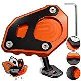 1050 1090 1290 Adventure 1190 Motorrad CNC Aluminium Seitenständer Vergrößern Seitenständer Platte für KTM 1050 1090 1190 1290 Adventure / 1290 Super Adventure R (Orange+Schwarz)