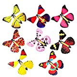 Ruiting Fata Magica Volare nel Libro Farfalla in Gomma alimentata Carica Giocattolo Farfalla Grande Sorpresa Regalo di Compleanno 4 Pezzi