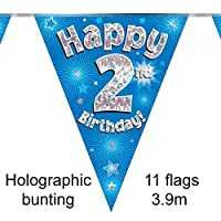 Oaktree 631021 2nd Birthday Blue Bunting - 3.9m (1)