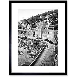 The Art Stop Vintage Photo CORNICHE Road Marseilles Framed Print F12X3099